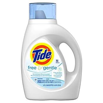 Tide Free & Gentle Liquid Laundry Detergent Unscented 1.47 L  32 Loads