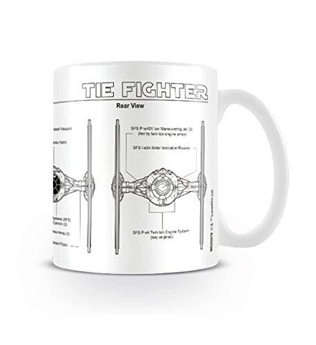 Pyramid International Star Wars Taza Tie Fighter Sketch