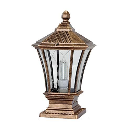 JJZXD Lámpara de Columna Lámpara de Pared Villa Estilo Europeo Lámpara de Columna de Pared Lámpara de Exterior Jardín Lámpara de jardín Retro Lámpara de Pared Impermeable LED