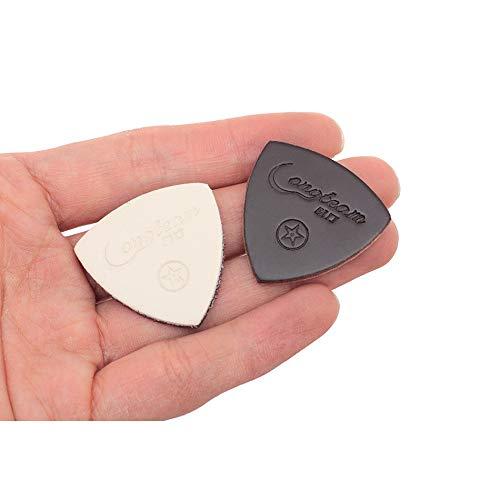 Leder-Plektrum-Set/3 Picks in verschiedene Stärken für Ukulele Akustische und Western-Gitarre