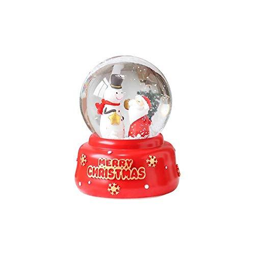 awhao-123 Christmas Music Box Crystal Ball, Innovador Hombre de Navidad Snowman Snow Crystal Ball Resina decoración decoración del hogar, Regalo para niños Pretty Good