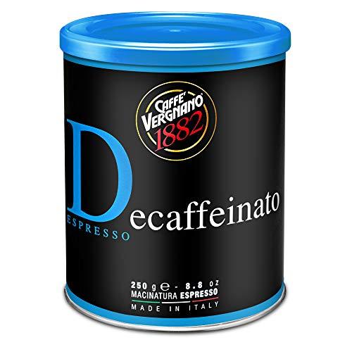Caffe' Vergnano 1882 Lata Café 100% Arábica Molido Descafeinado - 250 g