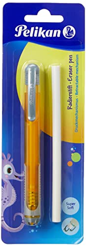 Pelikan 807364 Radierstift inkl. Ersatzradierer, 4 Farben sortiert - keine Farbauswahl möglich!, 1 Stück