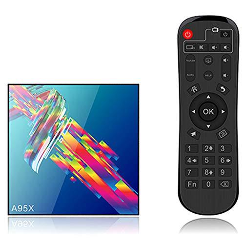 HSART Smart TV Decodificador Sistema Operativo Android 9.0 CPU RK3318 Uad-Core 64-bit Arm Cortex A53 GPU Mali 450 Reproductor Multimedia de Transmisión,4+32g