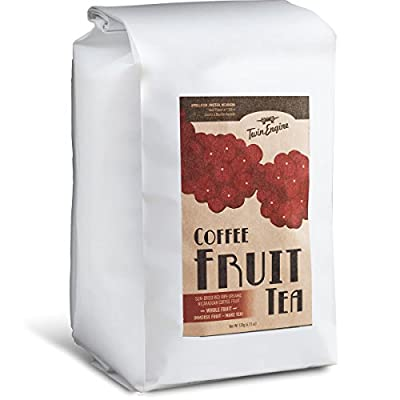 Coffee Fruit Tea - Cascara - superfood with antioxidants - 1lb - WHOLE DRIED COFFEE FRUIT for cold or hot brew - by Twin Engine Coffee