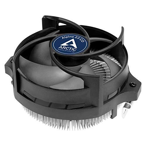 ARCTIC Alpine 23 CO - Dissipatore per CPU per Operazioni Continue, Compatibilità con AMD AM4, Cuscinetto Doppia Sfer - Nero