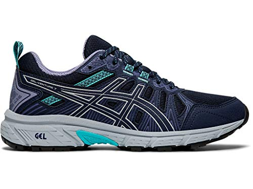 ASICS Women's Gel-Venture 7 (D) Shoes, 10.5W, Black/Silver