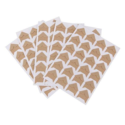 Fotoecken Foto Selbstklebeetiketten Braunes Packpapier Photo Album-Schutz-Aufkleber 5 Blatt