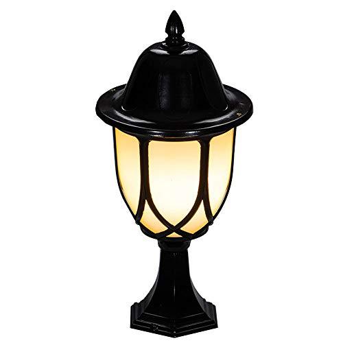 Wmdtr Exterior E27 Pilar Luz Villa Decoración Paisaje Linterna Lámpara de iluminación Lámpara de Columna de Aluminio, IP55 Luces de jardín de Pared a Prueba de Agua para el Garaje del Patio
