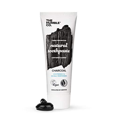 The Humble Co. Natürlich Zahnpasta mit Fluorid (2 x75ml) | Aktivkohle | Umweltfreundlich, Vegan, Zuckerfrei, von Zahnärzten empfohlen - Verhindert Mundgeruch, Karies, Plaque