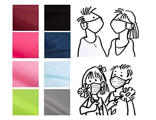 Mund- & Nasenmaske – Kind; Erwachsen – Uni-Einfarbig Wendemaske 100% Baumwolle Waschbar Handgenäht - Alltagsmaske Gesichtsmaske