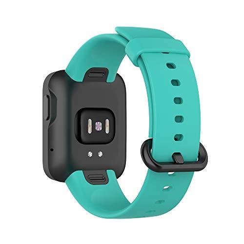 KINOEHOO Correas para relojes Compatible con Mi Watch Lite,with Redmi watch Pulseras de repuesto.Correas para relojesde siliCompatible cona.(Verde azulado)