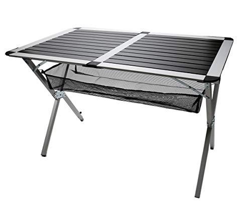 Bubble-Store Klapptisch 110 x 70,5 x 73 cm, Campingtisch aus Aluminium, Rolltisch für Terrasse, Garten, Camping, Tisch mit Tragetasche