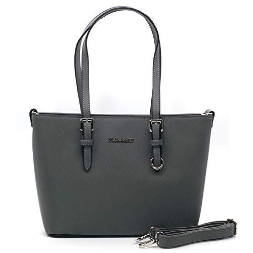 Flora& Co Sac à main pour femme 9179 - Sac à main élégant pour le bureau - Gris - gris, Taille unique