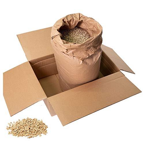 Jumbogras® Kleintier-Einstreu-Pellets Miscanthus/Elefantengras für Hasen+Kaninchen+Maus+Vogel+Meerschweinchen, statt Stroh- u. Sägespänen für Käfig & Stall (25 kg)