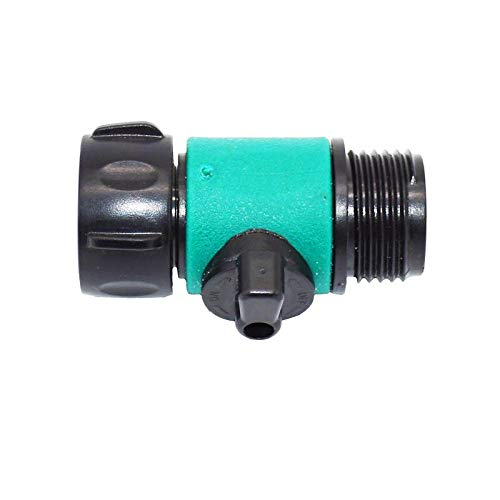 Mujer 3/4 Válvula de riego de 2 vías Tap Miniatura Válvula 3/4 Cranes de adaptador de agua masculina 6pcs