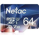 Netac microsd カード 64GB microSDXC UHS-I 読取り最大100MB/s 667X U3 Class10 フルHD ビデオV30 A1 FAT32 高速フラッシュTFカード Nintendo Switch対応(ラップトップ/Bluetoothスピーカー/タブレット/スマートフォン/カメラ用)P500