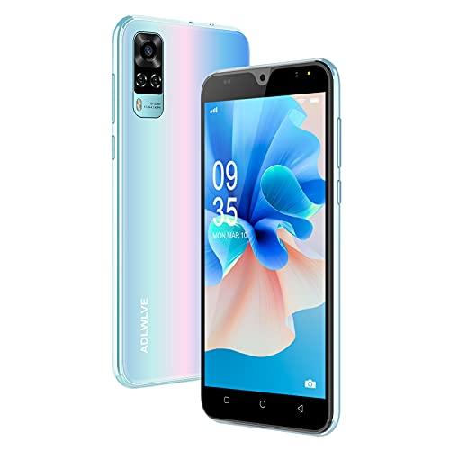 Teléfono Móvil Libres, (2021) 4G Smartphone 5.5 Pulgadas Android 9.0 Moviles Baratos y Buenos 2GB+16GB/ 64GB Ampliables, 3600mAh Baterí Cámara 8MP+5MP,Face ID/GPS/FM (Rosado)
