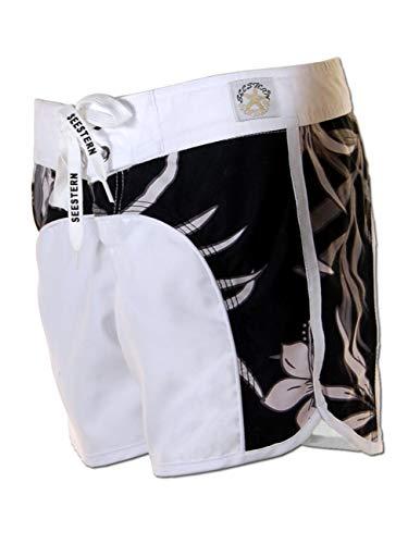 SEESTERN Damen Boardshorts Surfshorts Boardshort Surf Short Bade Shorts XS-XXL /1422 Weiss L