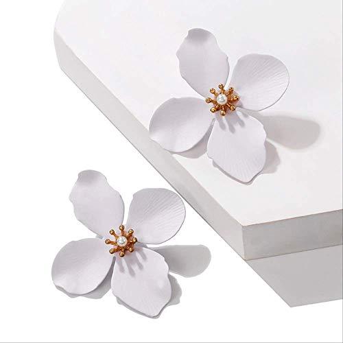 Oorbel bengelen grote metalen bloem oorbellen voor vrouwen Geometrische legering Spray bruiloft sieraden Meerdere ontwerpen bengelen verklaring oorbellen16-1