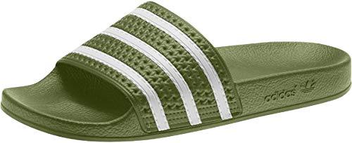 adidas Chanclas Adilette, color Verde, talla 39 EU