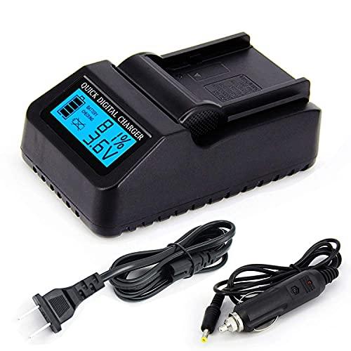Sostituzione rapida del kit di caricabatteria rapido per fotocamere da viaggio LCD USB compatibile con Panasonic HC V180 HC-V180 HC-V180K HC-V180EB-K HC-V180EG-K Videocamere HD Accessori per videocame