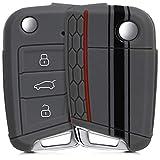 kwmobile Funda Compatible con VW Golf 7 MK7 Llave de Coche de 3 Botones - Carcasa...