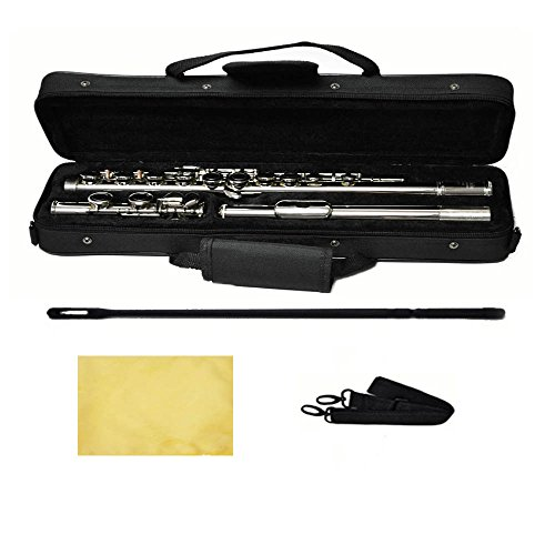 Hallelu HFL-200 Flute W/case Nickel Plated Keys