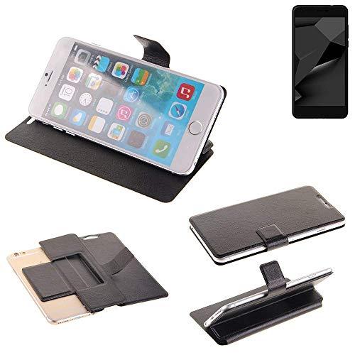 K-S-Trade® Schutz Hülle Für Blaupunkt SL Plus 02 Schutzhülle Flip Cover Handy Wallet Case Slim Handyhülle Bookstyle Schwarz