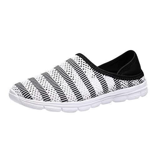 AIni Herren Schuhe,Mode 2019 Neuer Heißer Beiläufiges Atmungsaktives Mesh Schuhe Sneakers Freizeitschuhe Student Running Shoes Partyschuhe Freizeitschuhe(42,Weiß)