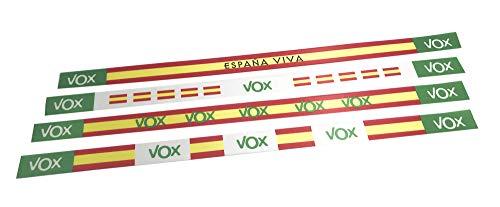 Tarja 73 - Pulsera de Tela con Mensaje - Pulsera Vox - Pack 4 Unidades - Regalo Personalizado y Original (Por España)