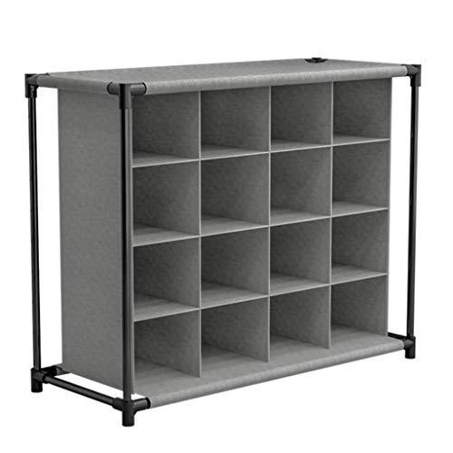 4-Tier Cube Schuhregal-Organizer, Schuhregal-Aufbewahrungsbox, Mehrzweck-Aufbewahrungs- und Ausstellungsständerhalter, für 16 Paar Schuhe (grau)