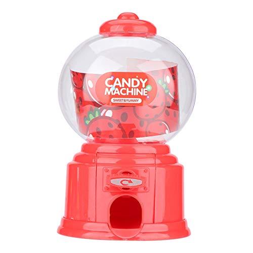 Zerodis Máquina de Dulces, Máquina portátil de Dulces para niños Plástico Mini Gumballs Bean Dispenser Kids Kindergarten Gift(Rojo)