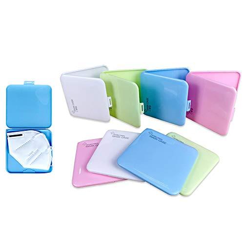 Organizador Caja de Mascarilla de Almacenamiento de Plástico Reutilizable, Estuches de Almacenaje Portátiles con Tapas, Almacenaje de Máscara Contaminación Tamaño (13 x 13 x 1 cm) (Pack 6 Cajas)