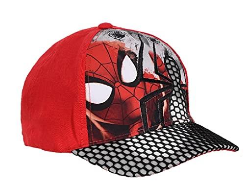 Marvel Disney Officiel Spiderman Enfants garçons Chapeaux Casquette de Baseball âgés de 2 à 6 Ans (54cm (4/6 Ans), Rouge)