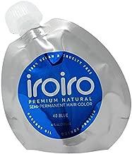 Iroiro Natural Premium Semi-Permanent Hair Color 40 Blue 4oz
