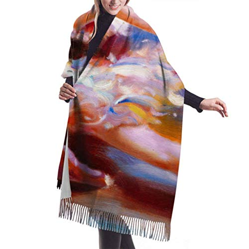 Bufanda con flecos de 27'x77 para mujer, bonita bailarina, bufandas grandes para bailar, bufanda para mujer, bufanda de cachemira con estilo, manta grande y clida