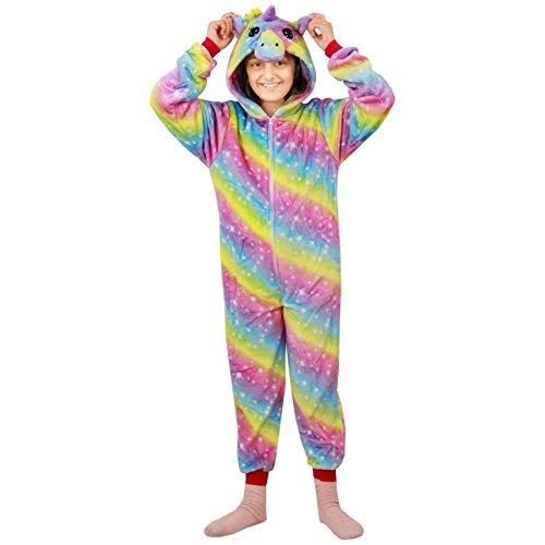 A2Z 4 Kids® Niños Niñas Unicornio A2Z Onesie extra suave esponjoso 3d galaxia impresión todo en uno Navidad disfraz nuevo edad 2 3 4 5 6 7 8 9 10 11 12 13 años Multicolor Arco Iris 9-10 Años