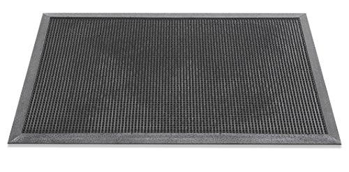 HMT - Felpudo (Caucho), Color Negro, 100% Caucho, Negro, 46 x 70 cm