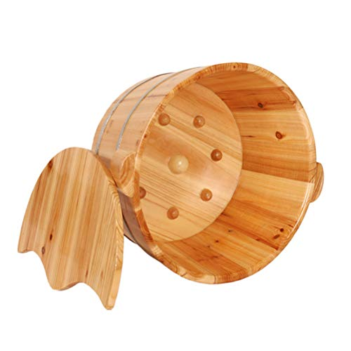 Best Price Wooden Foot Basin, Solid Wood Foot tub, Pedicure Bowl Spa Massage Cedar Pedicure Barrels ...