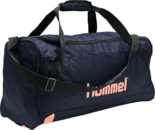 hummel Unisex hmlAction Sports Bag Medium Sporttasche, Marine/Dusty Pink