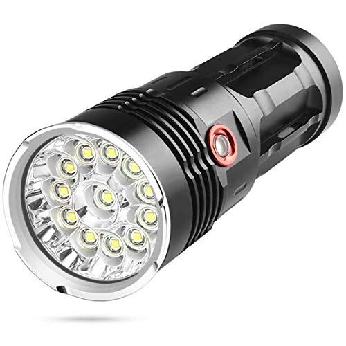 Superhelle Taschenlampe, leistungsstarke 10000 Lumen CREE LED-Taschenlampe mit wiederaufladbarer IP 65 wasserdicht, 50000 Stunden Lebensdauer, 3 Lichtmodi und Isolationsmodus für Camping und Wandern