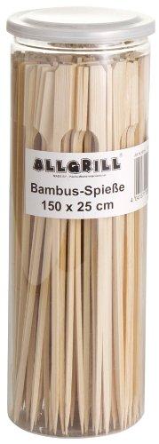 Bambus-Spieße, Fingerfoodspieße, Bambusstick 25 cm lang, Inhalt 150 Stück von Allgrill ®