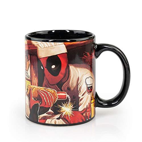 Dead Pool Costume | Dead Pool Atomic Changa Ceramic Coffee Mug | 12 oz