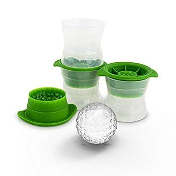 Tovolo Golf Ball Set of 3 Leak-Free Slow-Melting Whisky & Spirits Ice Novelty Drink Molds Green Sphere