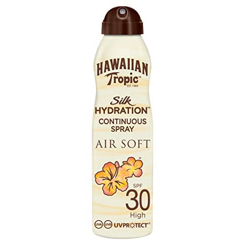 Hawaiian Tropic Silk Hydration Air Soft Sun Spray Lotion Sonnenspray SSF 30, 1 St ,177 ml
