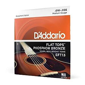 Juego de cuerdas para la guitarra acústica Hechas de acero y bronce fosforado Proporcionan un sonido claro, con volumen amplio Con una superficie lisa y plana