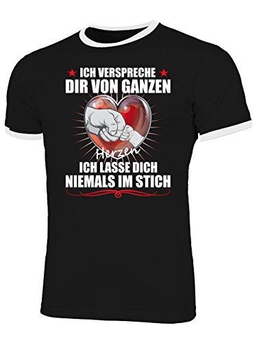 Golebros Ich verspreche dir 5287 Papa Geburtstags Tour Ideen Stolzer Männer Herren Opa Ringer Tshirt Schwarz Weiss L