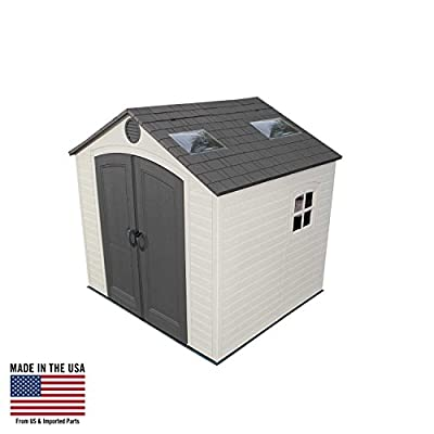 LIFETIME 60015 8 X 7.5 Ft Outdoor Storage Shed-Desert, Other