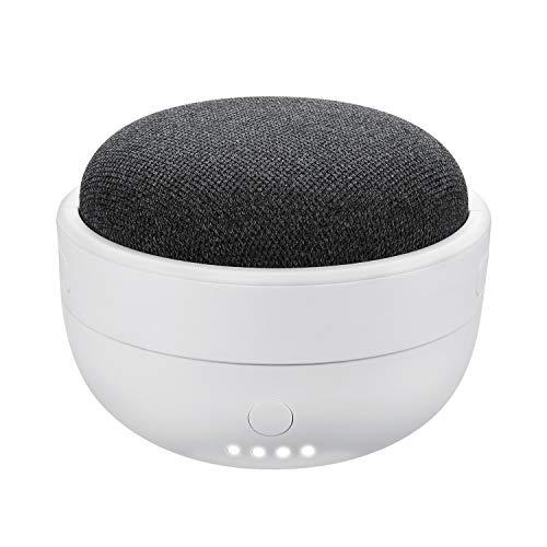 Base de batería Recargable para Google Home Mini – Cargador portátil de 7000 mAh de Wasserstein (Blanco) NO Compatible con Google Nest Mini (2ª Gen)